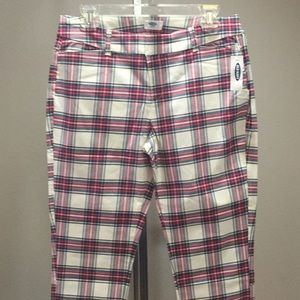 Old Navy Plaid Pixie Crop Pants